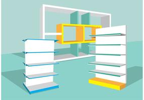 3D Shelves Vector