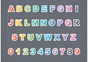Gratis Vector Sticker Letter Set