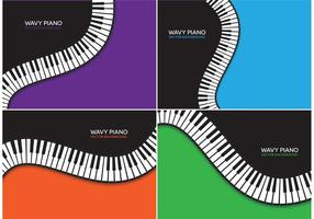 Wavy Piano Vector Backgrounds