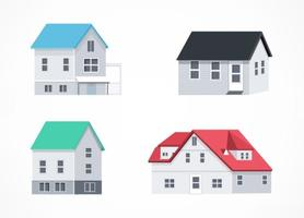 Vector Isometric Houses