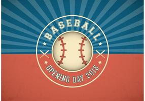 Gratis Baseball Openingsdag Vector Label