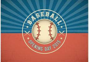 Etiqueta livre do vetor do dia da inauguração do beisebol