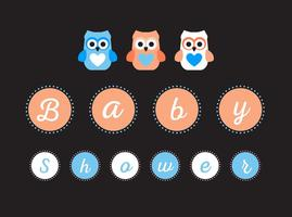 Vecteur signe baby shower