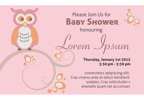 Baby Shower Invitation Card Template vector