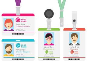 Identification Cards vector
