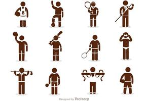 Sport Stick Figur Icons Vector Pack