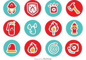 Circle Icons Fireman Vector Pack