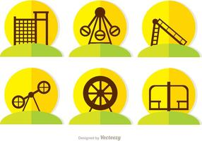 Flat Icons Spielplatz Vector Pack