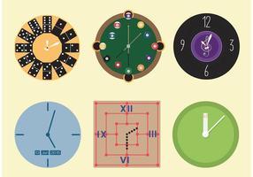 Vecteurs d'horloge décoratifs