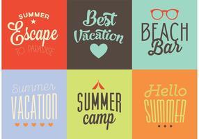 Fondos de verano de vectores