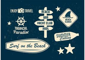 Badges Vector Beach