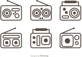 Pack de vectores de radio de contorno