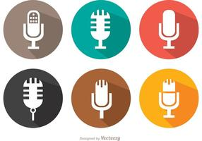 Pacote de vetores de microfone plano