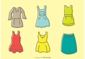 Cartoon Dresses Vector Pack