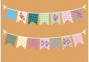 Vintage Shabby Chic Garlands  vector
