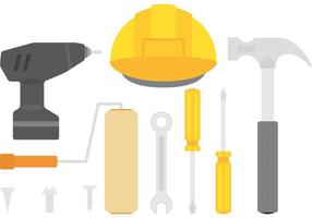Vectores de herramientas de colores