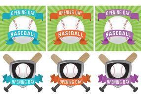 Vecteurs de jour d'ouverture du baseball