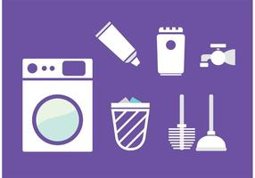 Vecteurs de services de nettoyage