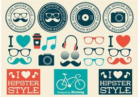 Elementos de design do estilo Hipster