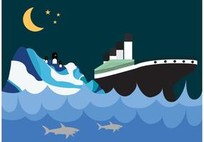 Titanic and Iceberg Wallpaper