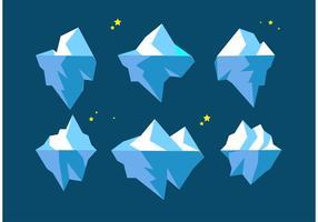 Vectores flotantes de los icebergs