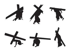 Vecteur jesus silhouettes