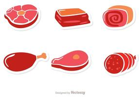 Meat Sticker Vectors