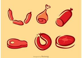 Kött vektorer pack