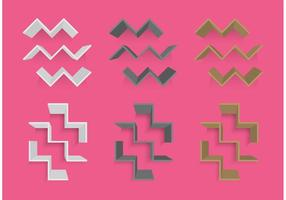 Zigzag 3D Shelves vector