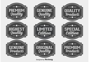 Premium Kvalitet Label Set