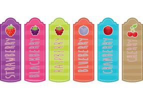 Berry Bookmarks vector