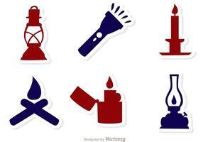Pacote de vetores de fonte de ícones de luz