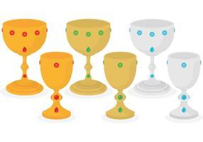 Flat Medieval Goblet Vectors