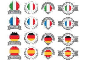 European Badges vector