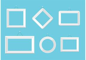 Set von weißen Foto-Frame-Vektoren