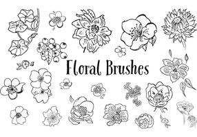 Hand Drawn Flower Vectors -The Smell of Roses