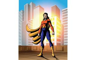 Bold Weibliche Superheld Vektor