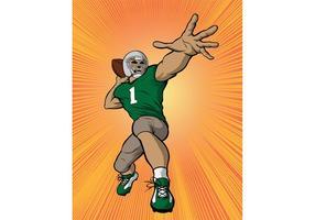 Fotboll Quarterback Vector