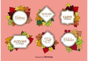 Vecteurs d'étiquettes d'automne
