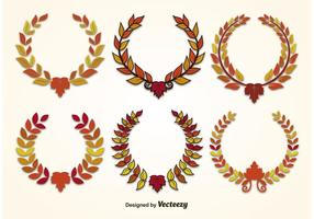 Vettori di Autumn Leaf Wreath