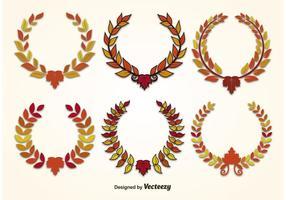 Autumn Leaf Wreath Vectors
