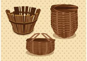 Old Basket Vector Pack