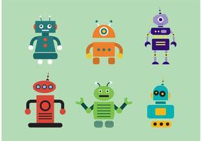 Vetores de robôs humanos