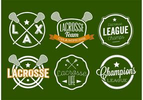 Conjunto de etiquetas Lacrosse vetor