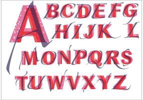 Paquet vectoriel de lettres de fantaisie