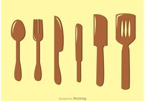 Küchen Utensilien Vektoren Pack