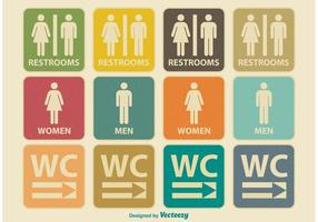 Retro Restroom Icons