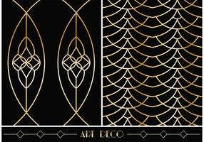Art Deco Geometric Vector Patterns