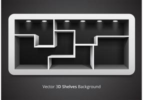 Free Vector 3D Shelves Background