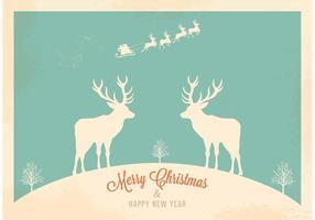 Free Christmas Retro Santa's Sleigh
